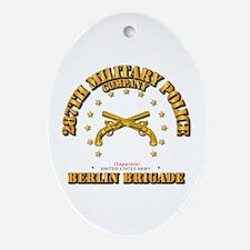 287th Mp Company - Berlin Brigade Oval Ornament