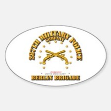 287th Mp Company - Berlin Brigade Sticker (oval)