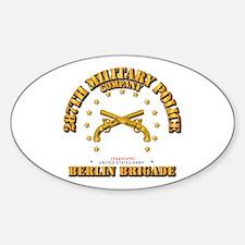 287th Mp Company - Berlin Brigade Sticker (oval)