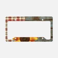 primitive country plaid burla License Plate Holder