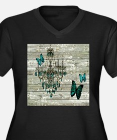 shabby chic barn vintage chandel Plus Size T-Shirt