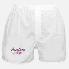 Anastasia Artistic Name Design with F Boxer Shorts