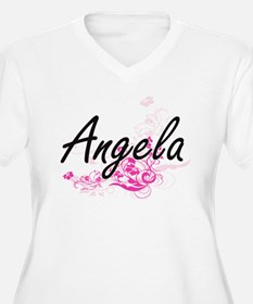 Angela Artistic Name Design with Plus Size T-Shirt