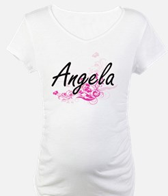 Angela Artistic Name Design with Shirt