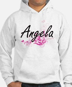 Angela Artistic Name Design with Hoodie
