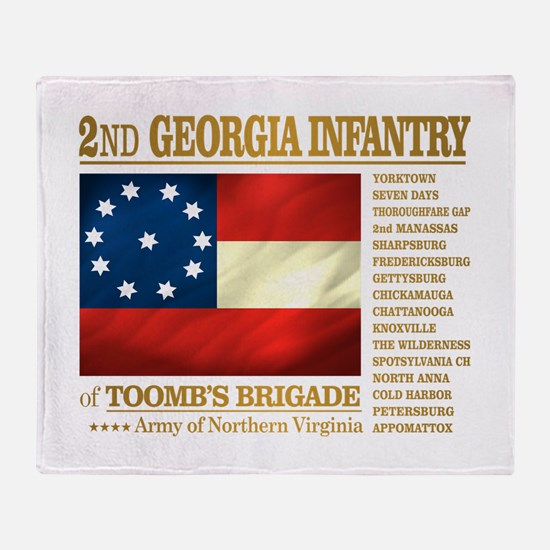 2nd Georgia Infantry Throw Blanket