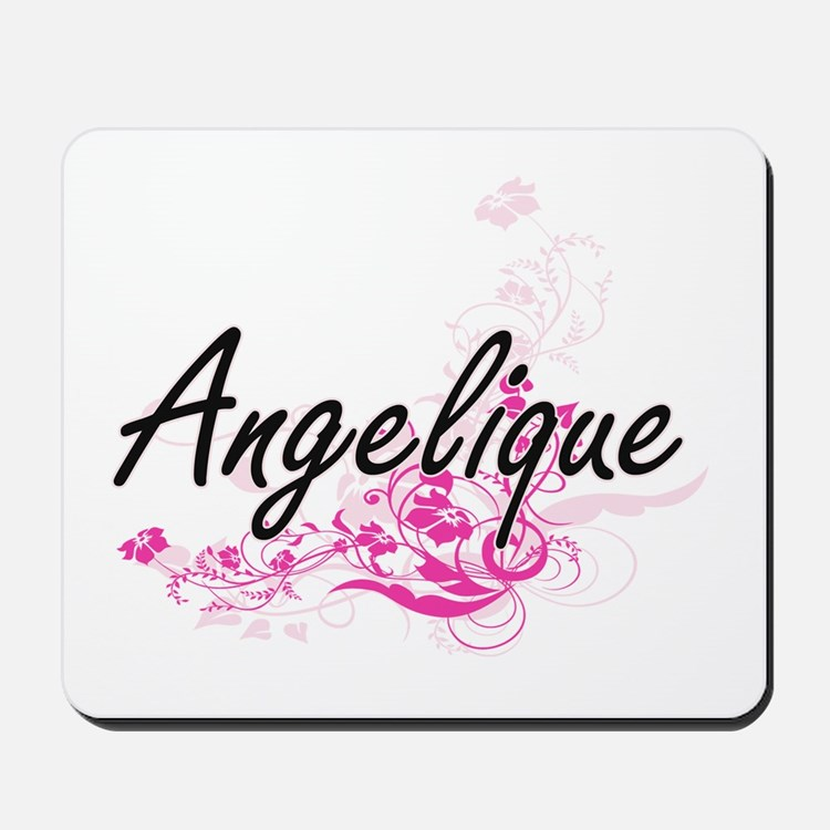 Angelique Artistic Name Design with Flow Mousepad