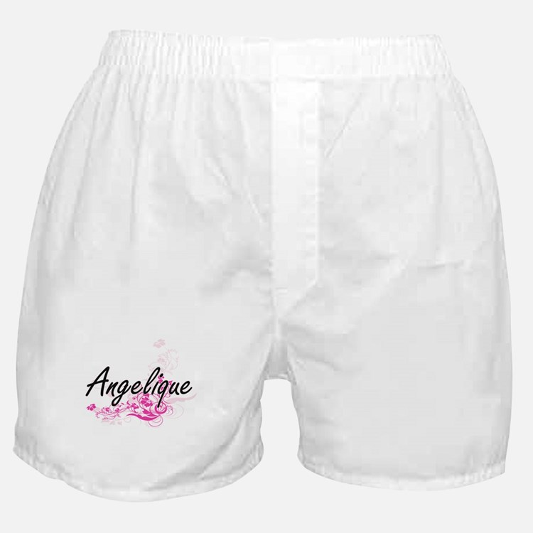 Angelique Artistic Name Design with F Boxer Shorts