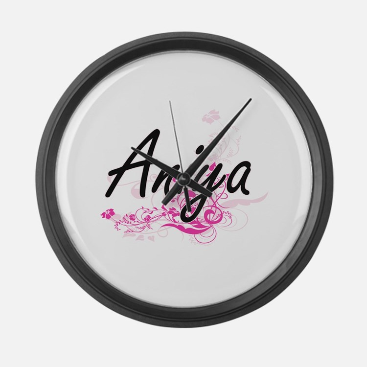 Aniya Artistic Name Design with F Large Wall Clock