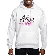 Aliya Artistic Name Design with Hoodie Sweatshirt
