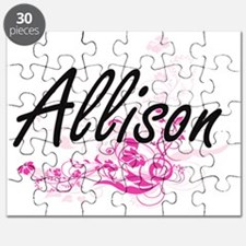 Allison Artistic Name Design with Flowers Puzzle