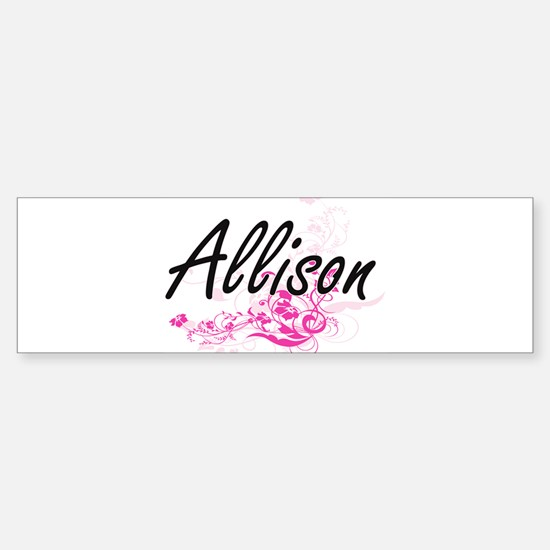 Allison Artistic Name Design with F Bumper Bumper Bumper Sticker