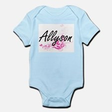 Allyson Artistic Name Design with Flower Body Suit