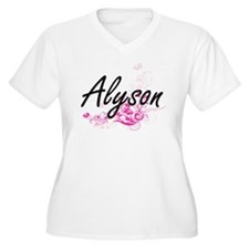 Alyson Artistic Name Design with Plus Size T-Shirt