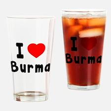 I Love Burma Drinking Glass