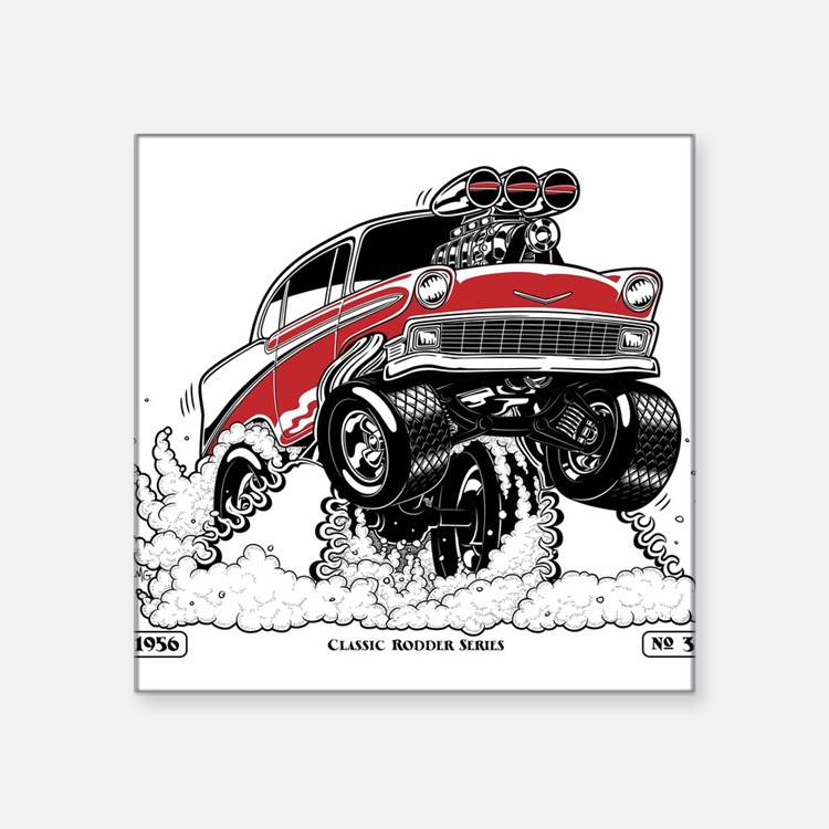 1956 Gasser wheelie-1 Sticker