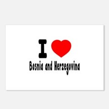 I Love Bosnia and Herzeg Postcards (Package of 8)