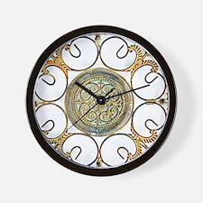 METAL FLORAL ABSTRACT ART DESIGN Wall Clock