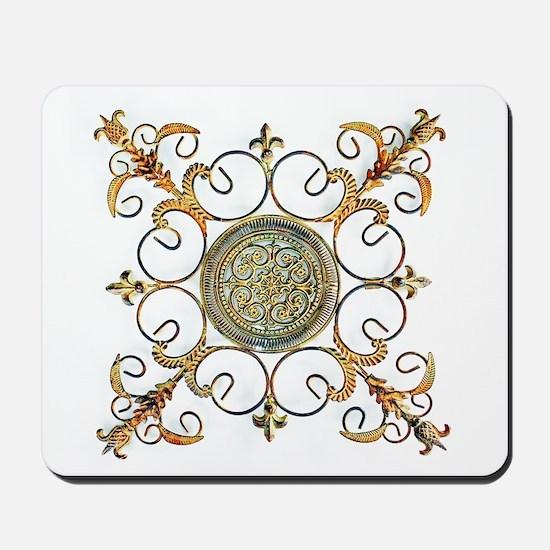 METAL FLORAL ABSTRACT ART DESIGN Mousepad