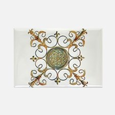METAL FLORAL ABSTRACT ART DESIGN Magnets