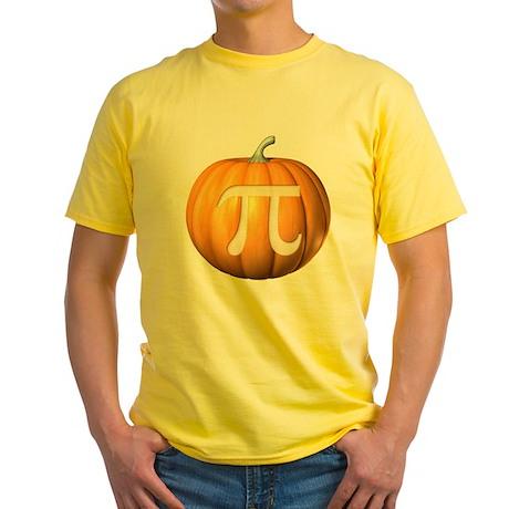 Pumpkin Pi Yellow T-Shirt