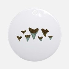 Shark Teeth Round Ornament