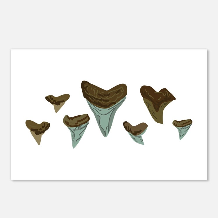 shark teeth template - shark teeth postcards shark teeth post card design template