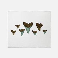 Shark Teeth Throw Blanket