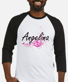 Angelina Artistic Name Design with Baseball Jersey