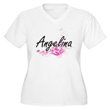 Angelina Artistic Name Design wi Plus Size T-Shirt