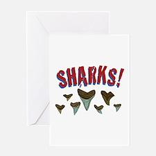 Sharks Teeth Greeting Cards