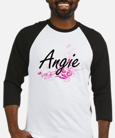 Angie Artistic Name Design with Fl Baseball Jersey