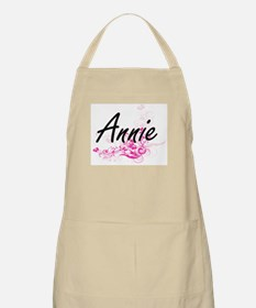Annie Artistic Name Design with Flowers Apron