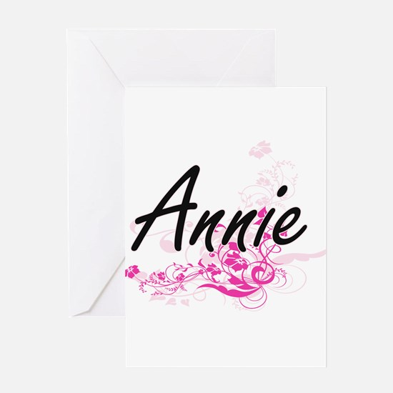 Annie Artistic Name Design with Flo Greeting Cards
