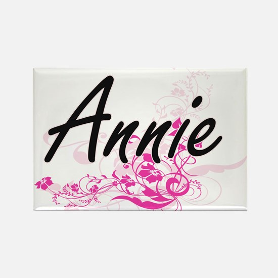 Annie Artistic Name Design with Flowers Magnets