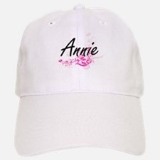 Annie Artistic Name Design with Flowers Cap