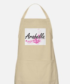 Arabella Artistic Name Design with Flowers Apron