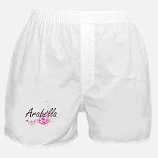 Arabella Artistic Name Design with Fl Boxer Shorts
