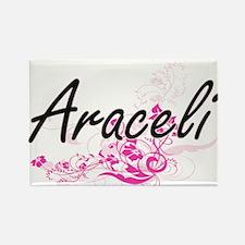 Araceli Artistic Name Design with Flowers Magnets