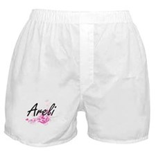 Areli Artistic Name Design with Flowe Boxer Shorts