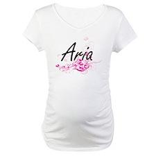 Aria Artistic Name Design with F Shirt