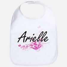Arielle Artistic Name Design with Flowers Bib