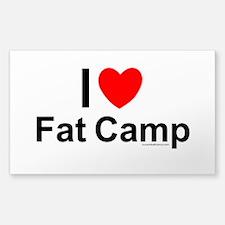 Fat Camp Sticker (Rectangle)