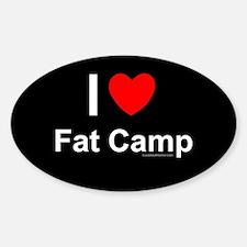 Fat Camp Sticker (Oval)