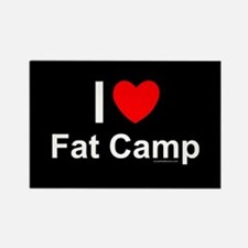 Fat Camp Rectangle Magnet