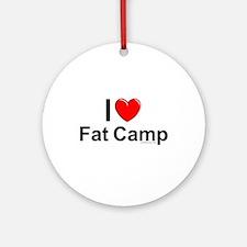 Fat Camp Round Ornament