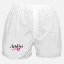 Ashleigh Artistic Name Design with Fl Boxer Shorts