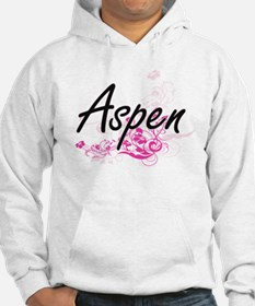 Aspen Artistic Name Design with Hoodie Sweatshirt