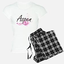 Aspen Artistic Name Design Pajamas