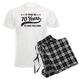 70th birthday Men's Light Pajamas